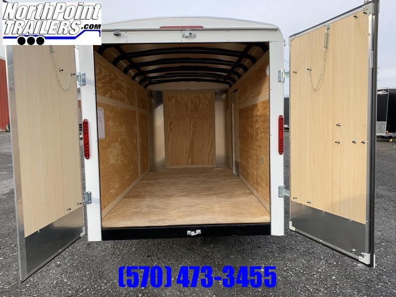 2020 Homesteader 612CS - 6x12 Cargo Trailer - White - Barn Doors