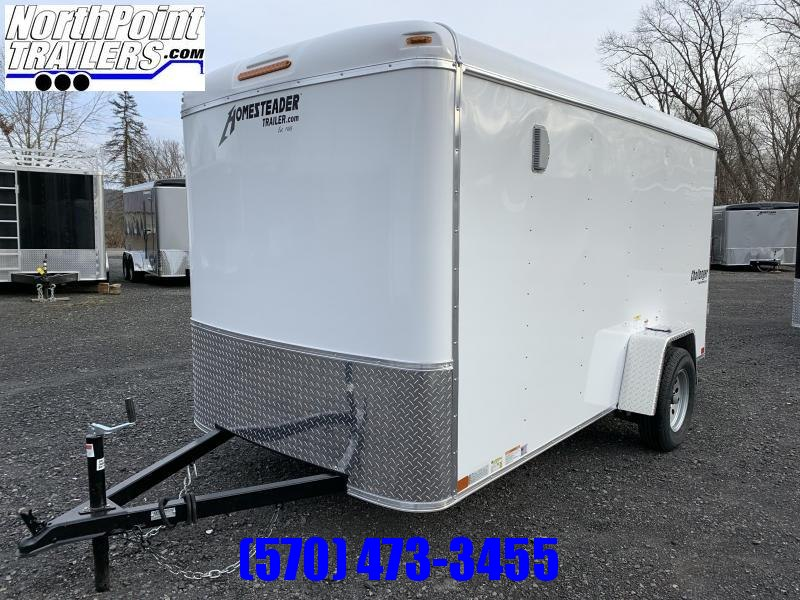 2020 Homesteader 612CS - 6x12 Cargo Trailer - White - Barn Doors