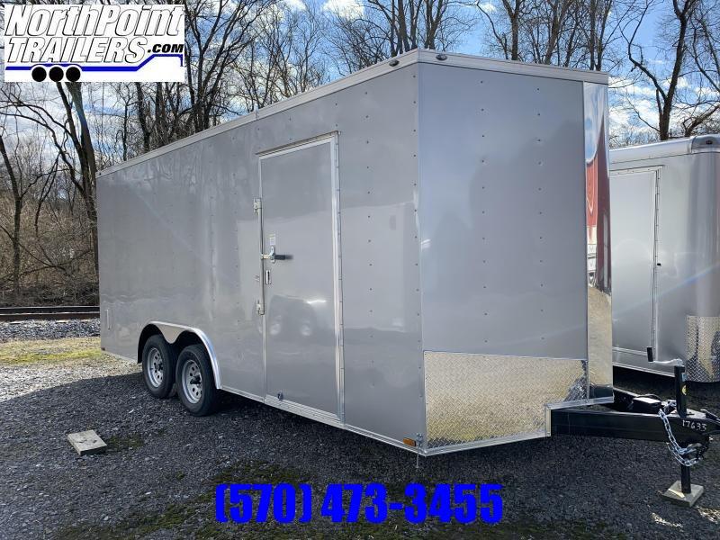 """2020 Spartan SP8.5x18 Enclosed Trailer - 84"""" Interior - Silver Frost - Ramp Door"""