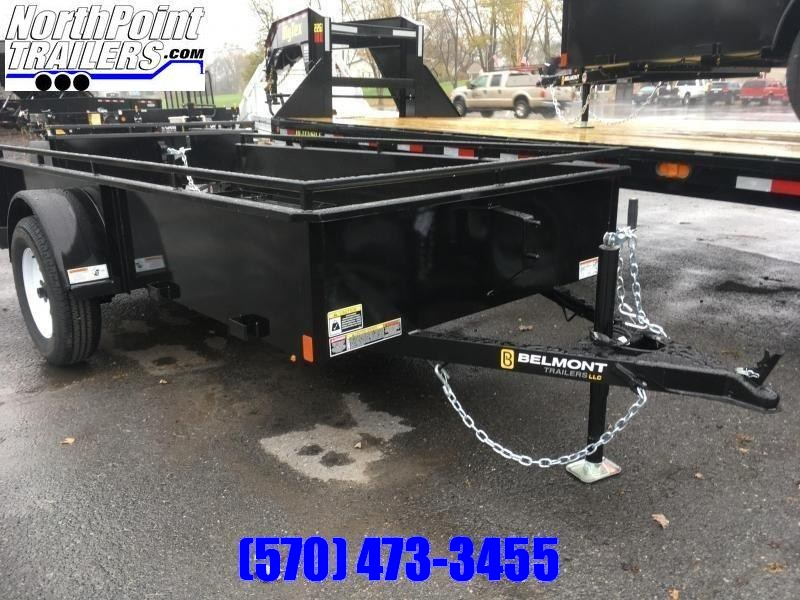 2020 Belmont Machine UT510SS Solid Side Utility Trailer **BLACK**