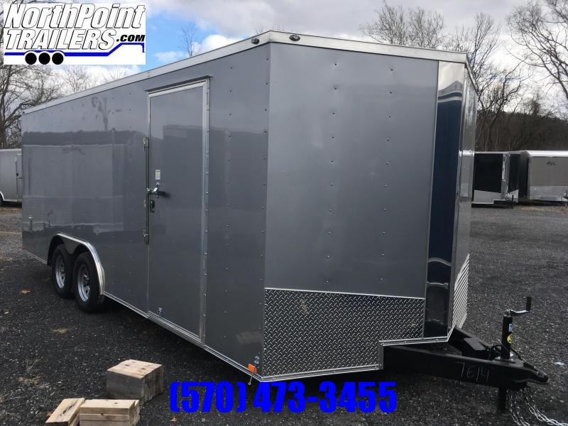 "2019 Samson SP8.5x20 Enclosed Trailer - 84"" Interior - Silver Frost"