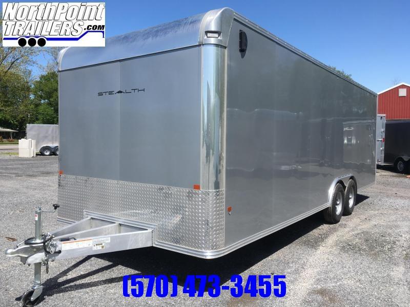 2019 CargoPro Trailers C8x24SCH Enclosed Car Trailer - Silver