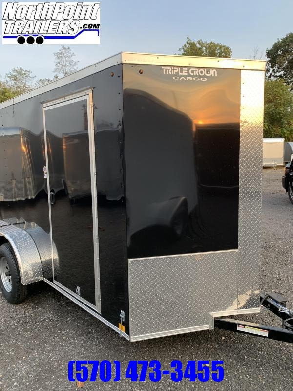 2019 Triple Crown Trailers 6X12TA Enclosed Trailer - Black