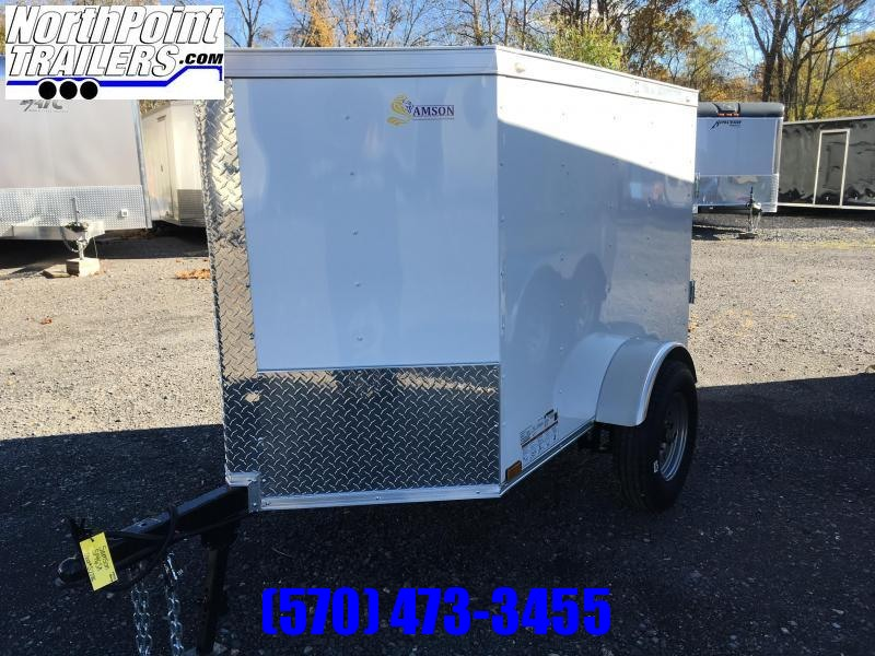 2019 Samson SP4x6SA Cargo Trailer - WHITE