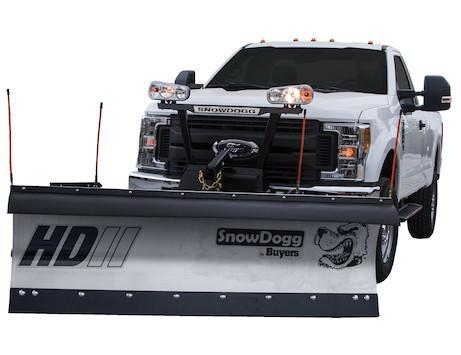 SnowDogg HD80 Stainless Snow Plow - 8' Straight Blade