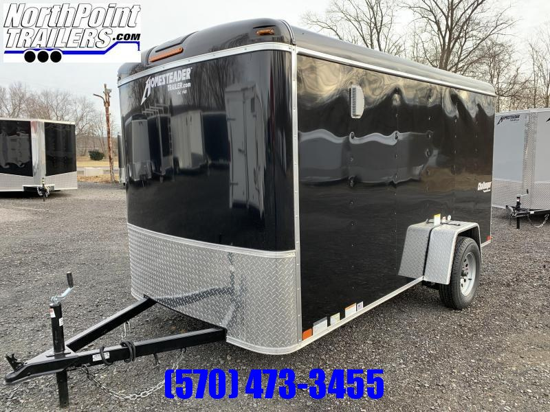 2020 Homesteader 612CS - 6x12 Cargo Trailer - Black - Ramp Door