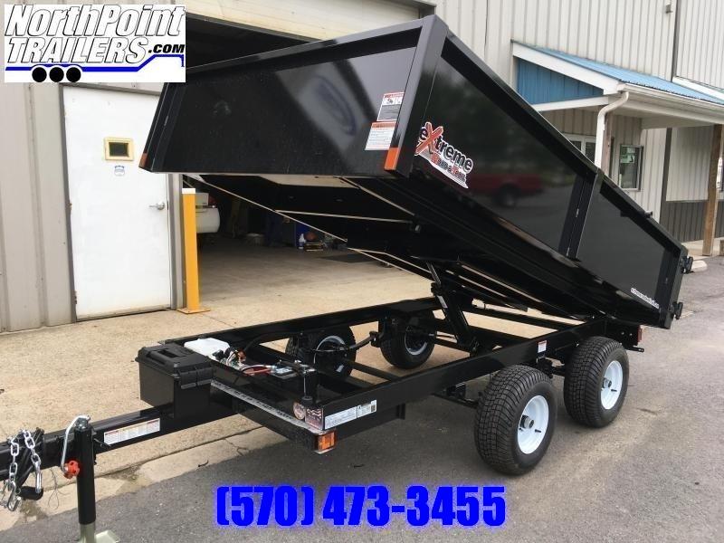 """2019 XRT-418 - 66"""" x 108"""" Dump Trailer - Barn Doors w/ Slide Out Ramps"""