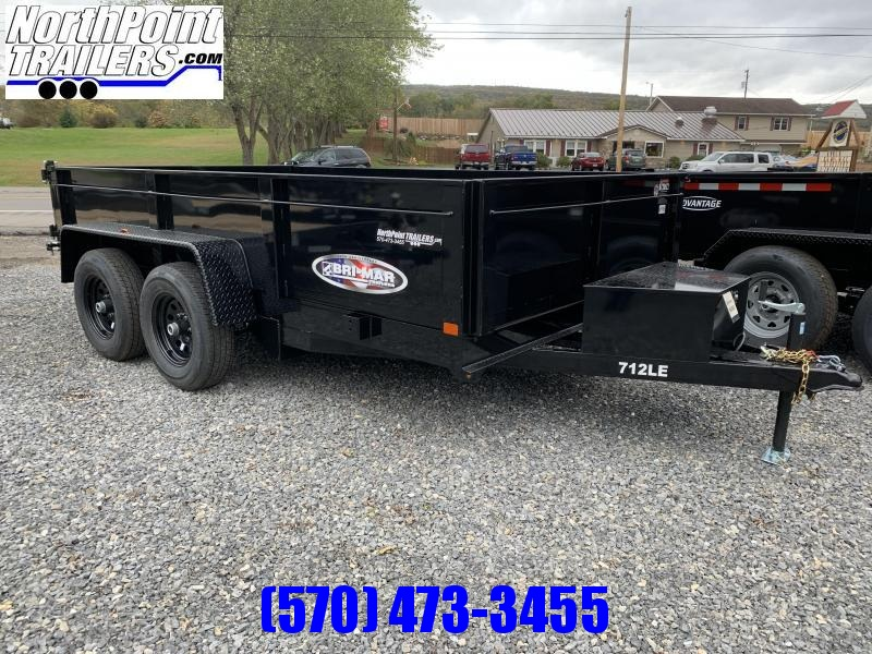 2020 Bri-Mar 7x12' 10K Dump Trailer w/ Ramps