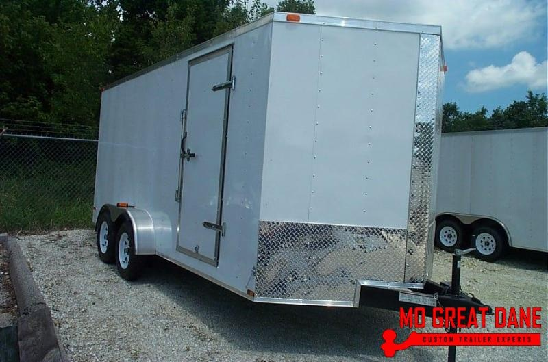 2020 Lark V-Nose 7 x 14 Ramp Enclosed Cargo Trailer
