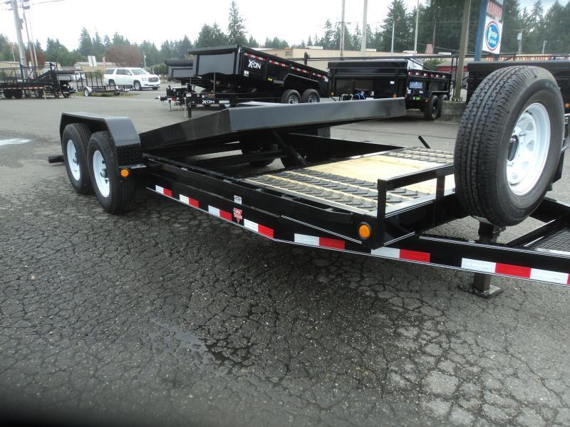 "2020 PJ 7x20 14K  6"" Channel Equipment Tilt Trailer w/Spare Tire"