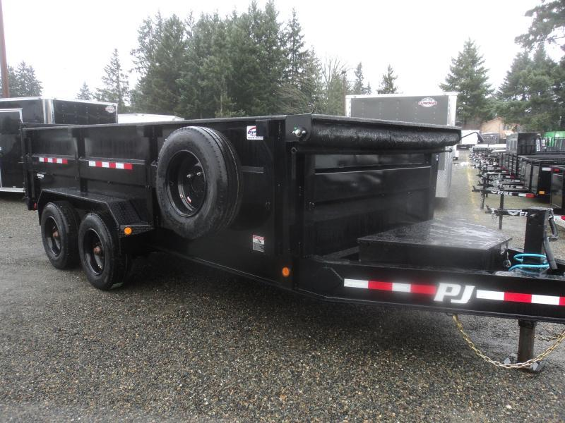 "2020 PJ 7x16 20K Heavy Duty 10"" I-Beam Low-Pro Dump Trailer"