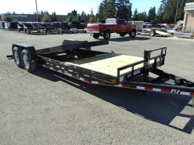 2020 PJ Trailers 7X22 14k Channel Equipment Tilt Trailer