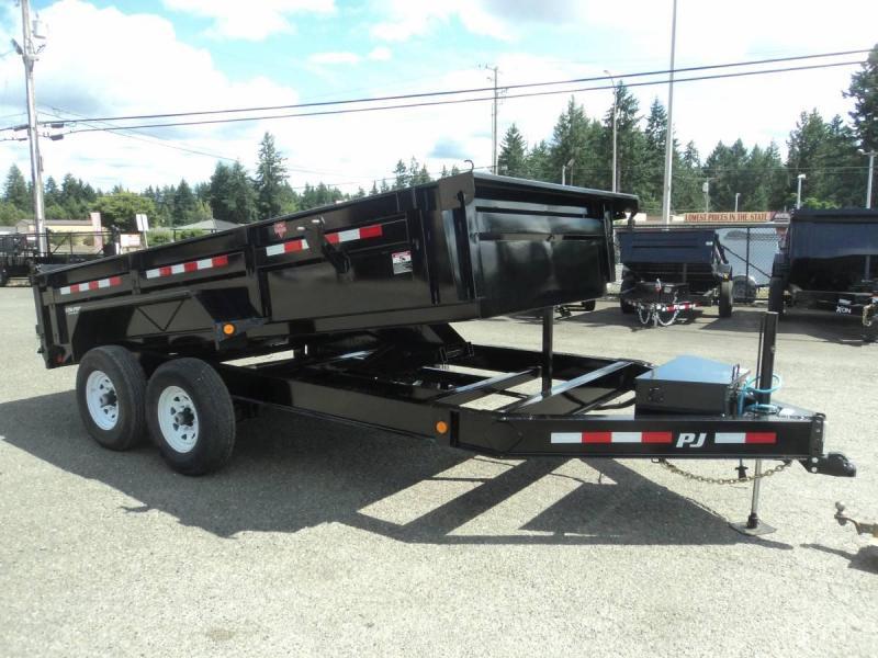 2020 PJ 7x14 14K Dump w/Hydraulic Jack/Tarp Kit