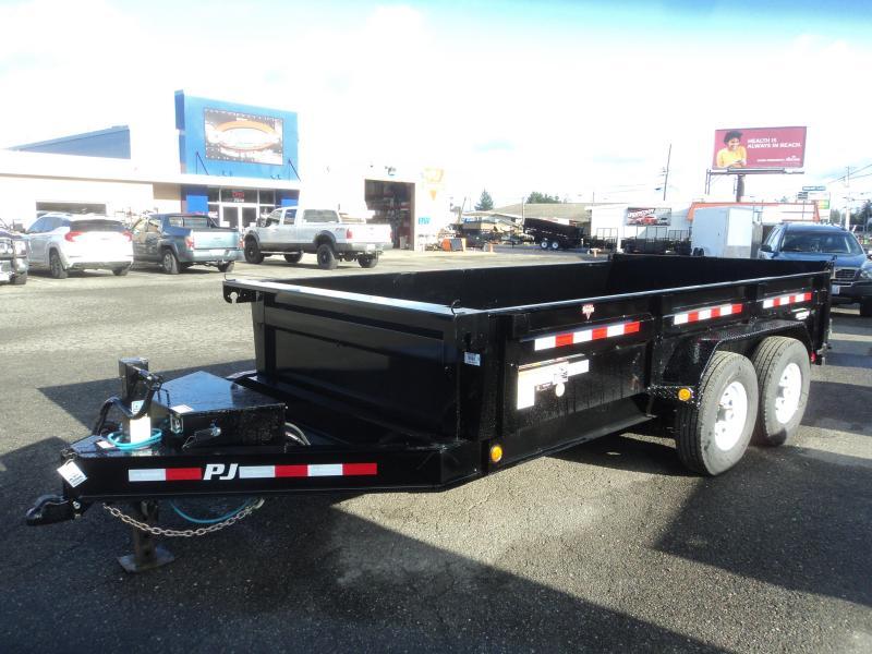 "2020 PJ 7x14 14K Low Profile Dump Trailer w/""G"" Tire 14ply Upgrade/10K Jack"