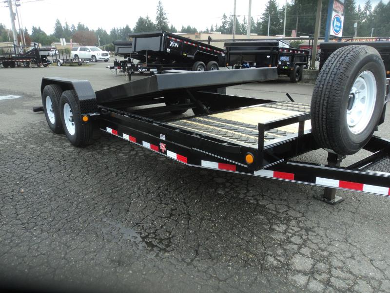 "2020 PJ 7x20 14K  6"" Channel Equipment Tilt Trailer with Spare Tire"