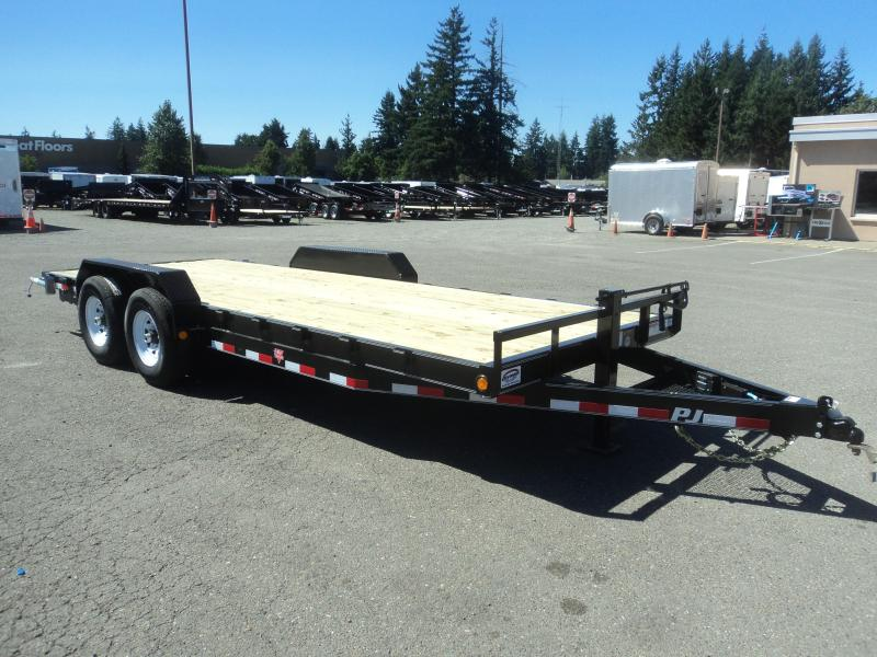 2020 PJ Trailers 7X20 10K Channel Equipment Trailer