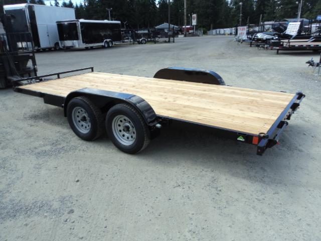 2020 Summit Flatbed 7x18 7K Car / Racing Trailer