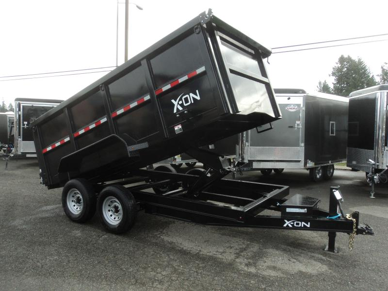 2020 X-On 7x14 14K 4' HIGH SIDED DUMP W/10K JACK/TARP KIT