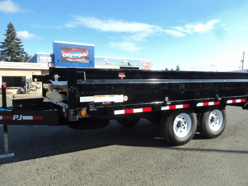 2020 PJ Trailers 8x14 14k Deckover Dump w/SpareTire/Under Mount