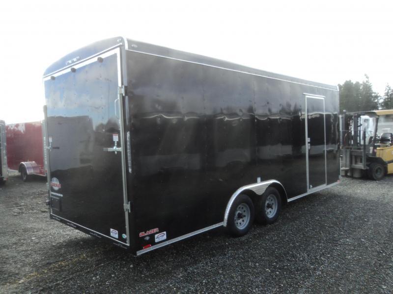 """2020 Cargo Mate Blazer 8.5X20 7K w/12"""" Extra Height/Ramp Door/D-rings"""