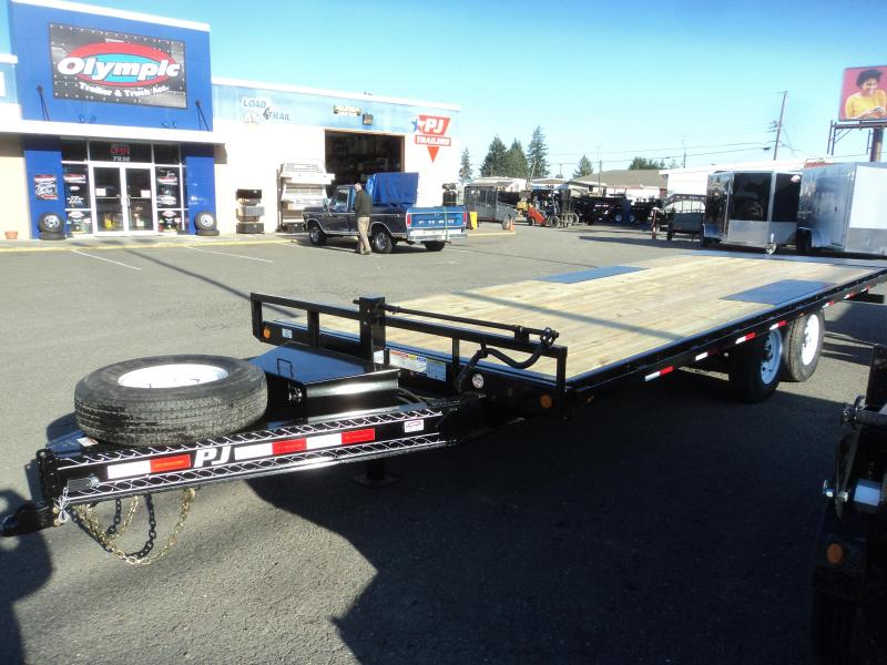2020 PJ 8x22 14K Deckover Tilt with Full Size Mounted Spare