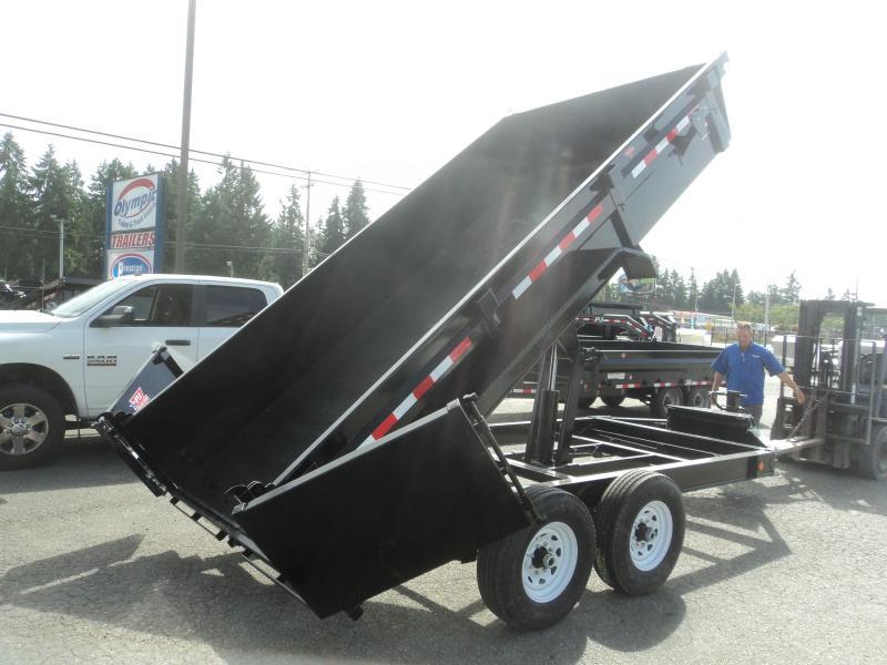 2020 PJ 7x14 14K w/Heavy Duty 7 Gauge Steel Bed/Tarp Kit/G-Tires/10k Jack
