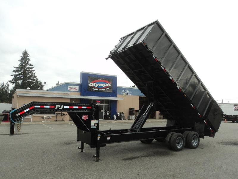 2020 PJ Tandem Dual 8x18 25K Gooseneck Dump