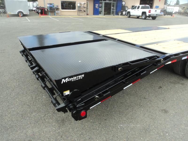 2020 PJ 8.5x30 w/12K Axles/Low Pro Flatdeck with Duals/Monster Ramps