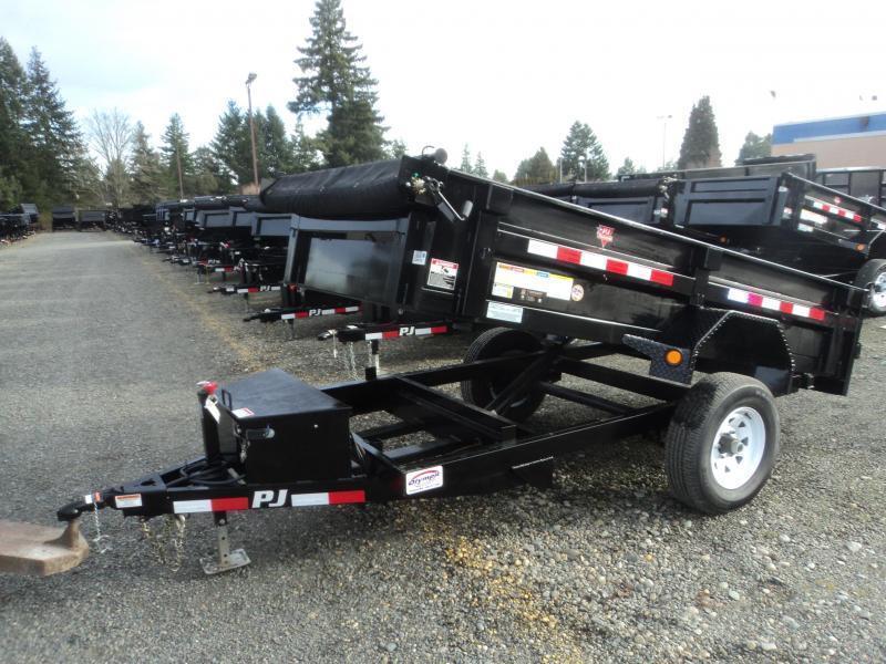 2020 PJ Trailers 5x10 5K w/Tarp Kit Dump Trailer