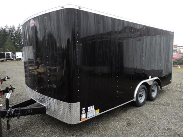 """2020 Cargo Mate Challenger 8.5x16 7K w/6"""" Extra Height/Rear ramp door/Vent"""