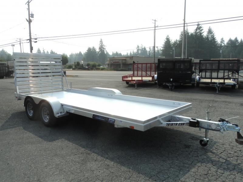 2021 Aluma 6.5x18 7K Tandem Axle Utility Trailer