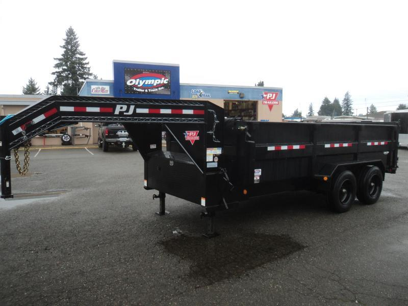 2020 PJ 7x16 22K Gooseneck Heavy Duty Low-Pro Dump Trailer