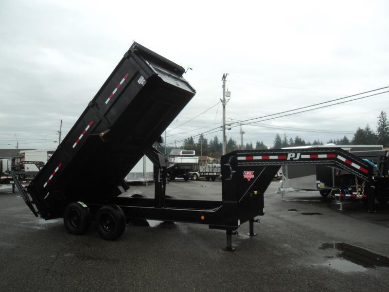2020 PJ 7x16 22K Gooseneck Heavy Duty Low-Pro Dump Trailer