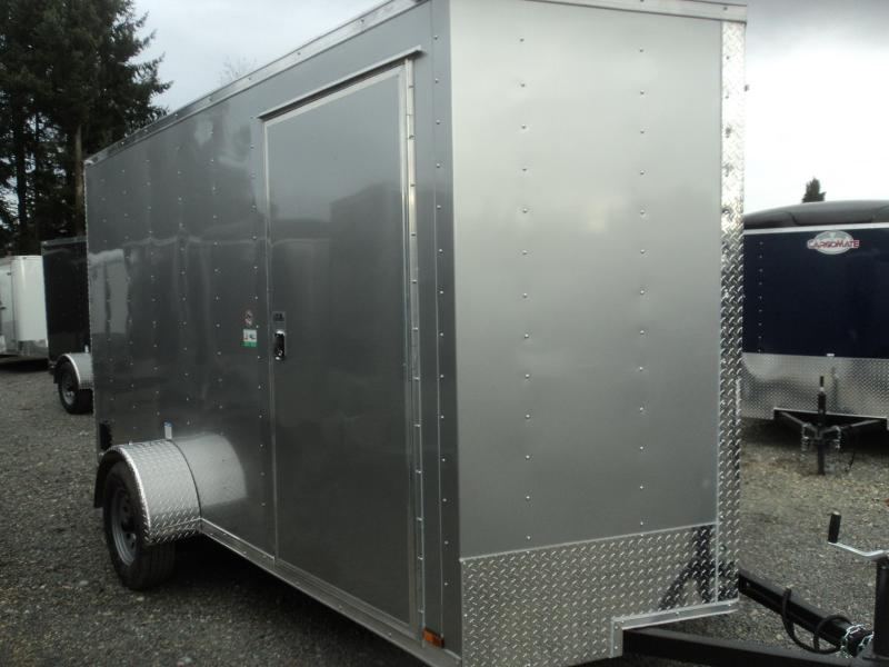 2020 CARGO MATE E-SERIES 6X12 ENCLOSED WITH EXTRA HEIGHT/RAMP/STAB JACKS
