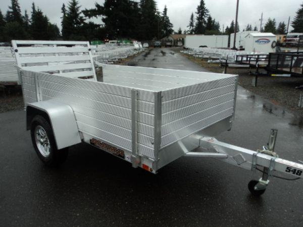 "2021 Aluma 4.5X8 WITH 24"" TALL SIDES Utility Trailer"