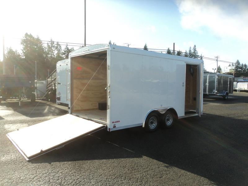 2020 Cargo Mate Blazer 8.5x16 7K w/4' Wedge/Extra Height/D-rings