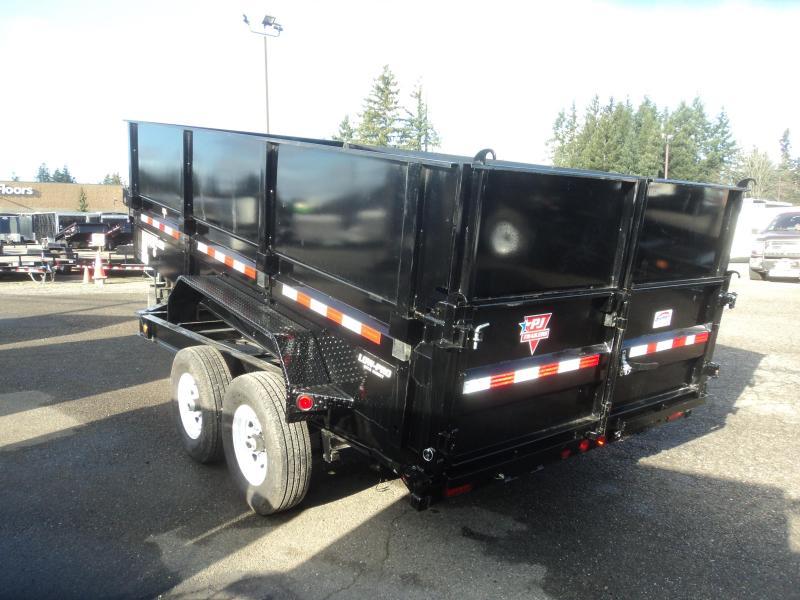 2020 PJ 7x14 14K w/Heavy Duty 7 Gauge Steel Bed/HD Side Extension Kit/G-Tires/10k Jack
