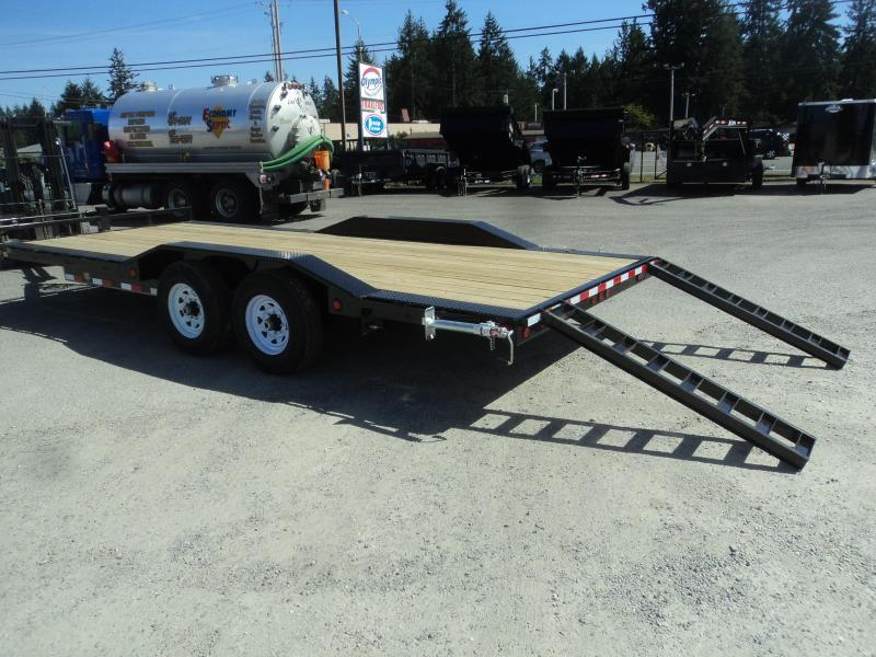 2020 PJ Trailers 8.5x20 14K w/Spare Tire and Mount Equipment Trailer