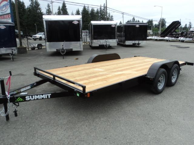 2020 Summit Alpine 7x16 7K Flatbed Car Hauler