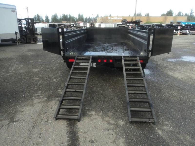 2020 PJ 7x14 14K Dump Trailer with Tarp Kit/Spreader Gate/10K Jack