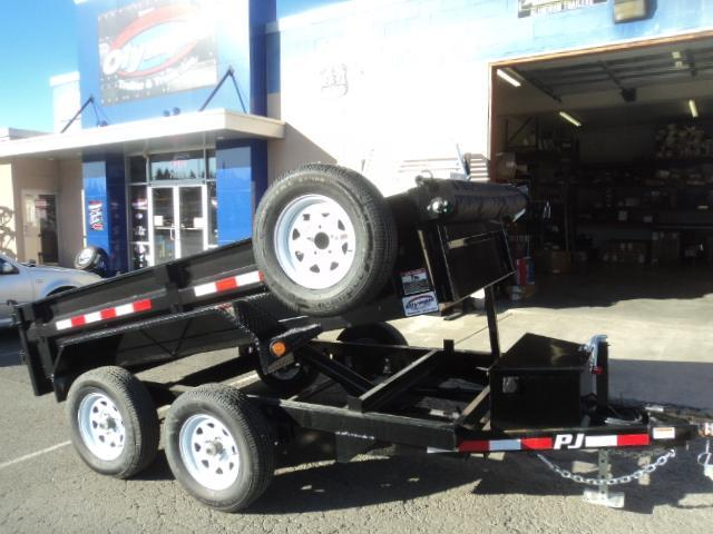 2020 PJ Trailers 5x10 10K With Spare Tire/Tarp Kit Dump Trailer