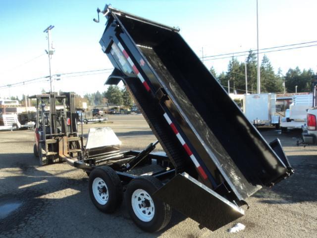 2020 PJ Trailers 5x10 10K With Spare Tire/Tarp Kit Dump Trailer