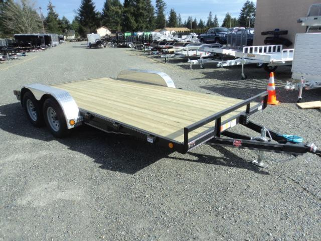 2020 PJ 7x18 7K Car Trailer w/Dovetail and Ramps