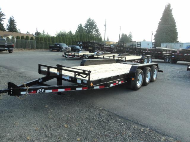 "2020 PJ CC 7X20 21K 6"" Channel Equipment Trailer w/Monster Ramps"