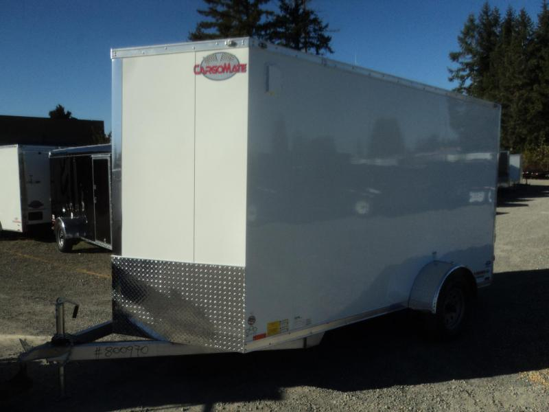 2020 Cargo Mate Aluminum 6X12 Wedge w/Rear Ramp/Extra Height