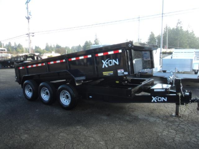 "2020 X-On 7x16 21K 8"" I Beam Dump Trailer w/Tarp Kit/Ramps++"