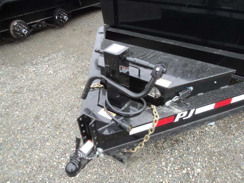"""2020 PJ 7x14 14K Dump Trailer w/24"""" Solid Side Extension Kit and 10K Jack"""