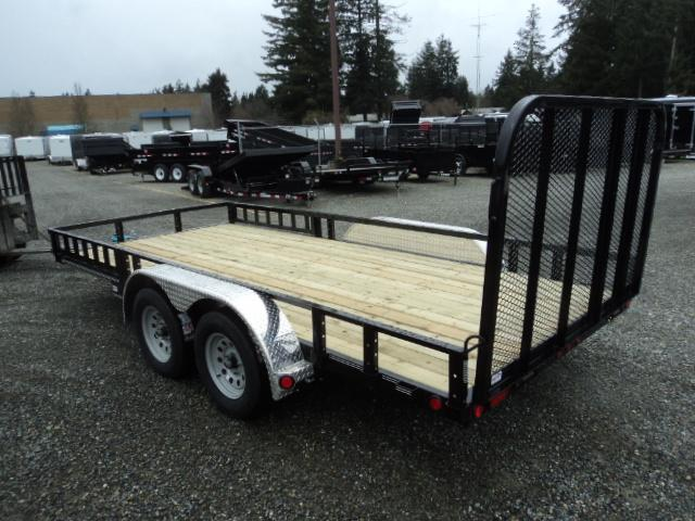 2020 PJ 7x16 7K with Fold-In Gate/Side Mount ATV Ramps/Tire Mount