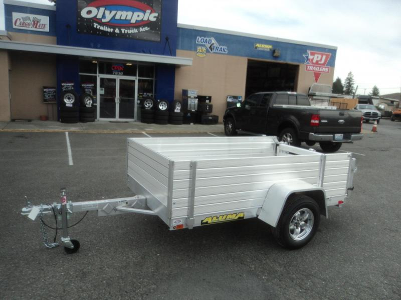 "2020 Aluma 4.5X8 w/24"" Side Kit and Bi-Fold Gate"