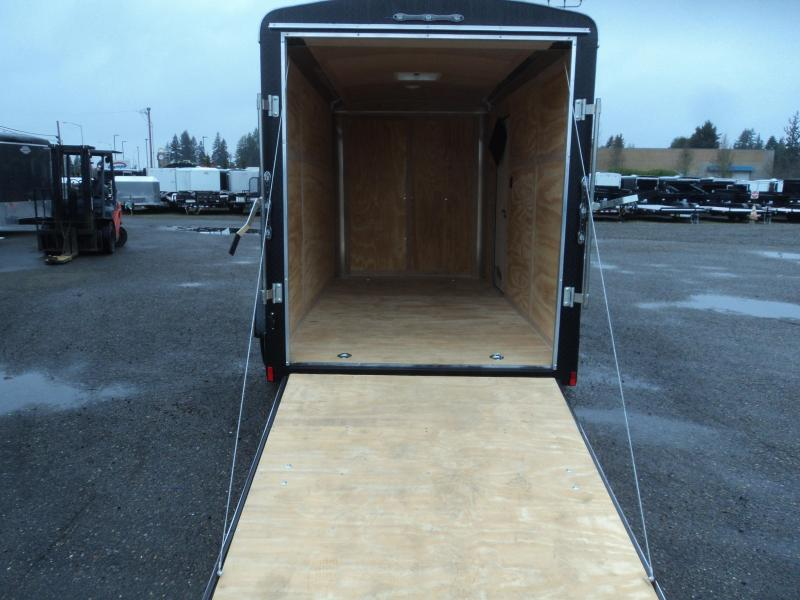 2020 Cargo Mate 6X12 Blazer with Ramp/Extra Height/D-rings/Matte Black Trim